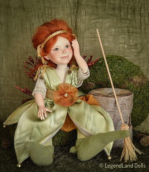 Boszorkány figura: Arabella az erdei boszorka