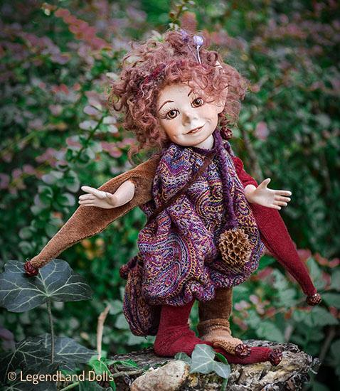 Elf figura: Lulu vándor elf