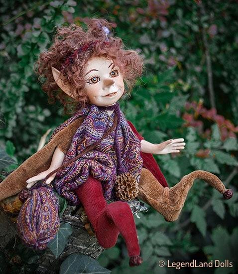 Elf figura: Lulu - vándor elf