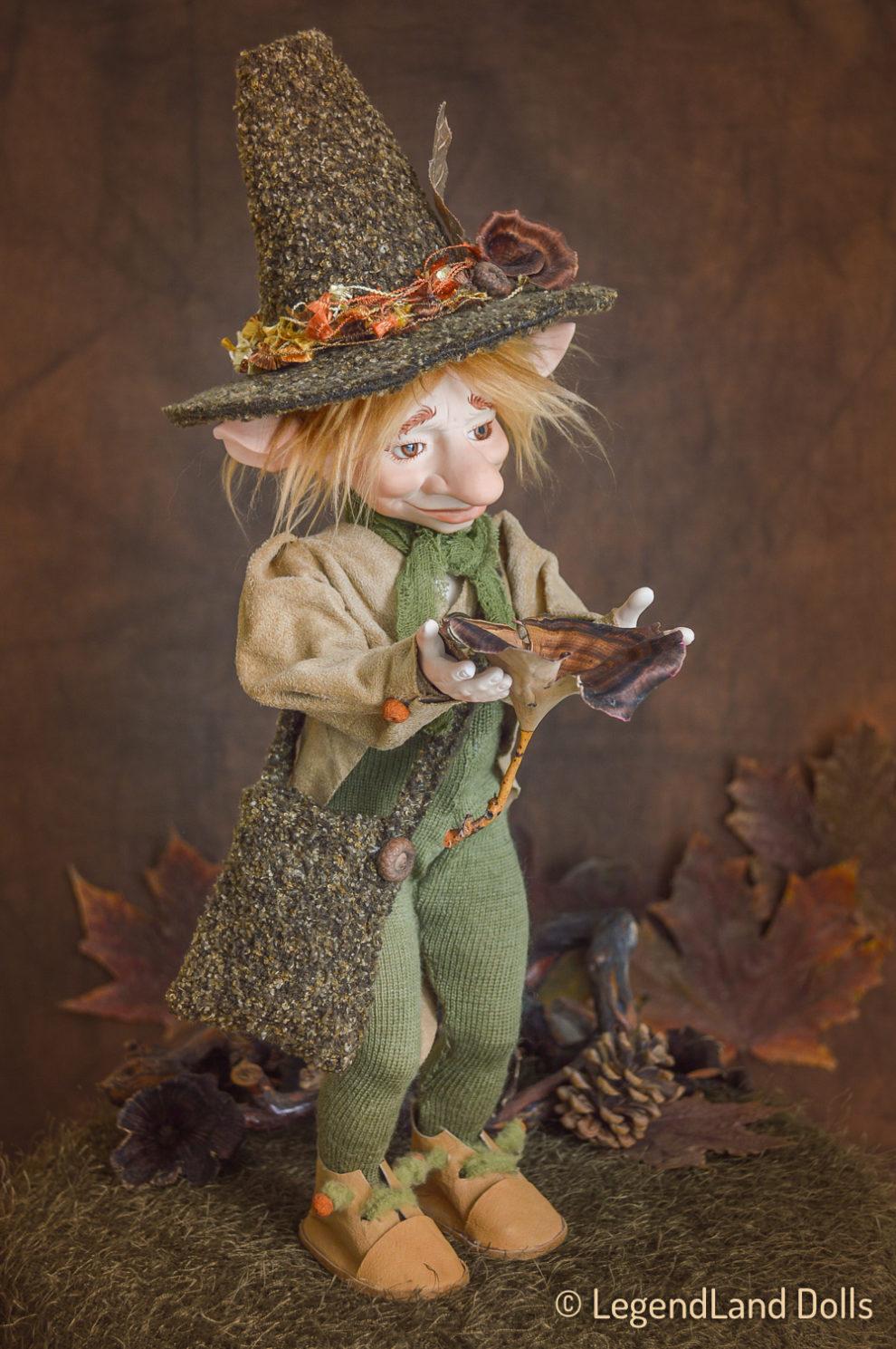 Kobold figura: Elemér - erdész kobold