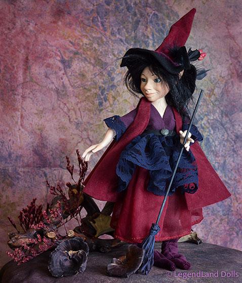 Boszorkány figura Vilma - misztikus jótevő | LegendLand Dolls