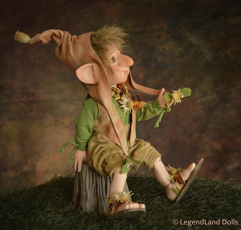 Manó figura: Miksa - bölcs manó | LegendLand Dolls