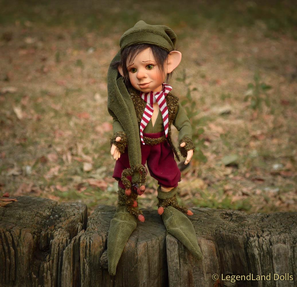 Manó figura: Toma - kis moha manó | LegendLand Dolls