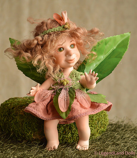 Tündér figura - Gréti a réti tündér   LegendLand Dolls