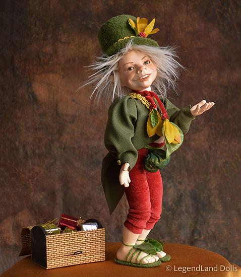 Kobold figura: Krisztofer - cirkuszi porondmester   LegendLand Dolls