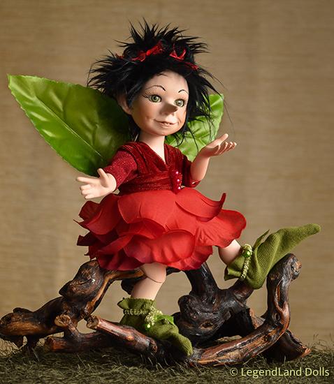 Tündér figura: Bella - rózsatündér | LegendLand Dolls