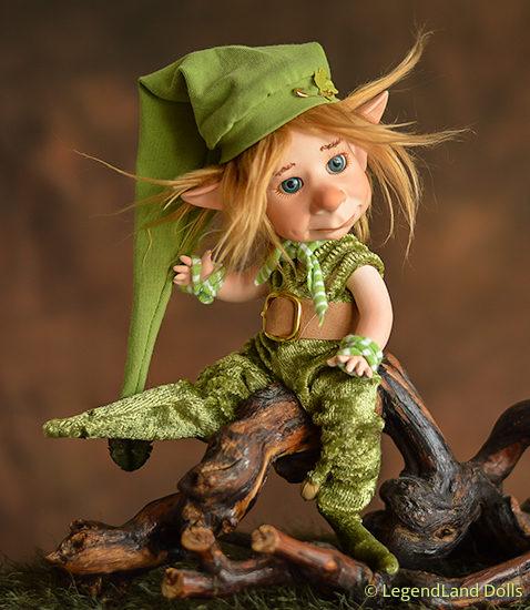 Szerencsehozó figura: Berke - Fortuna koboldja | LegendLand Dolls