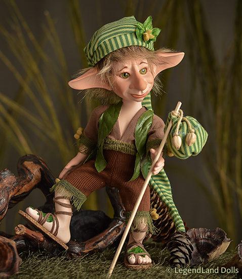 Kobold figura: Leopold a vándor kobold   LegendLand Dolls