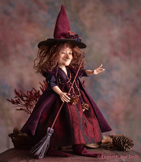 Boszorkány figura: Valéria - szédítő boszorkány | LegendLand Dolls