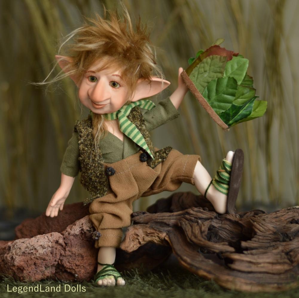 Ince - zöld herceg kobold | LegendLand Dolls