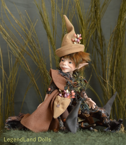 Kobold figura: Ignác - nagy vándor kobold | LegendLand Dolls