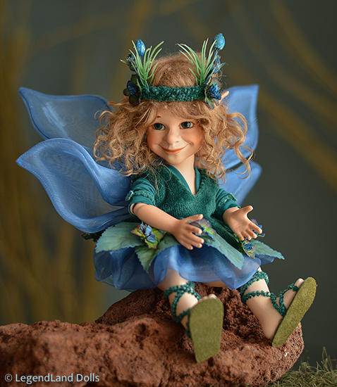 Tündér figura: Muriel - tengeri tündér   LegendLand Dolls
