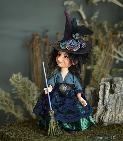 Boszorkány figura: Tessza - éjjeli boszorkány | LegendLand Dolls