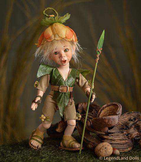Elf figura: Tintin - levélharcos elf | LegendLand Dolls