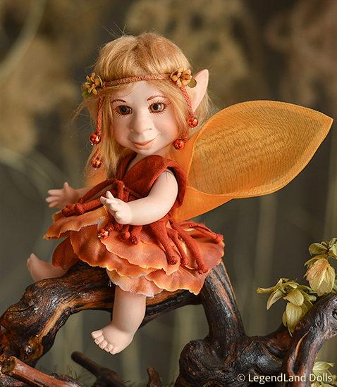 Tündér figura: Anka - naplemente tündér | LegendLand Dolls