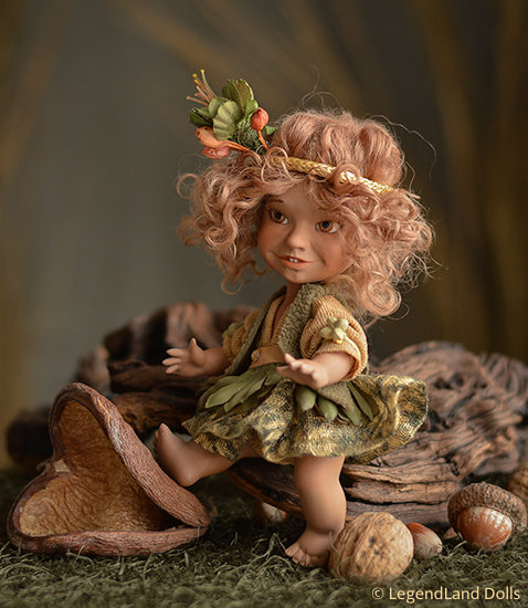 Elf figura: Galina - néger elf bébi | LegendLand Dolls