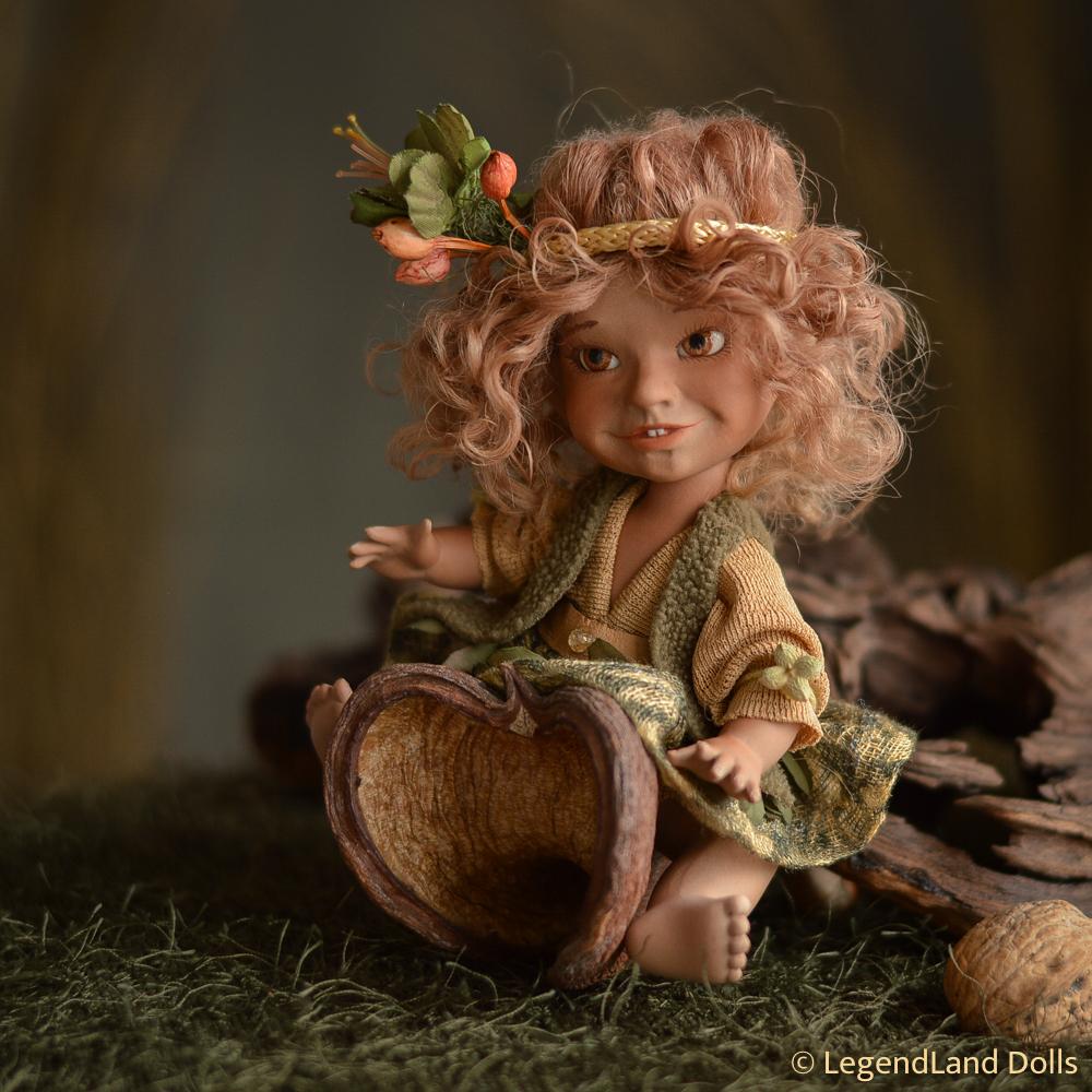 Elf figura: Galina - néger elf bébi   LegendLand Dolls
