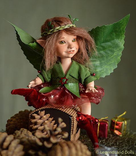 Karácsonyi tündér figura: Paulina | LegendLand Dolls