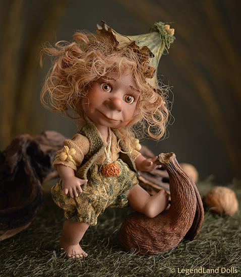 Elf figura: Soma - néger elf bébi | LegendLand Dolls