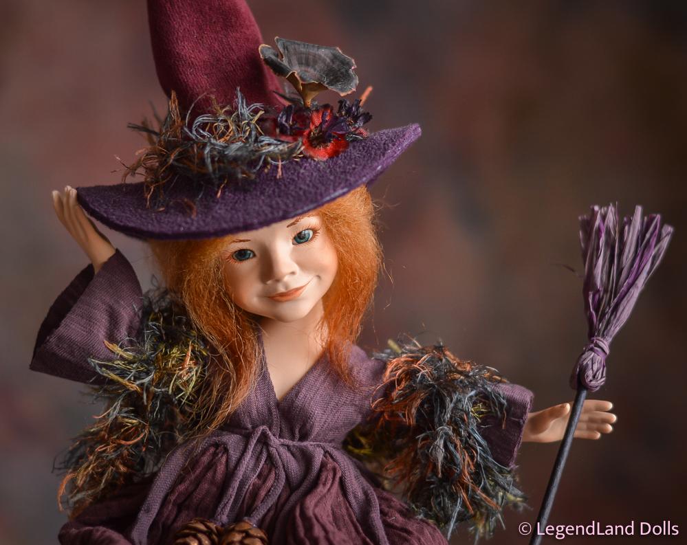 Boszorkány figura: Serena – aranyszívű boszorka   LegendLand Dolls