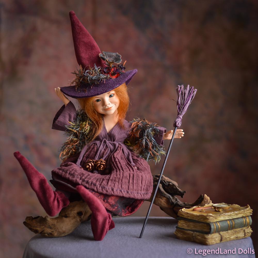 Boszorkány figura: Serena – aranyszívű boszorka | LegendLand Dolls