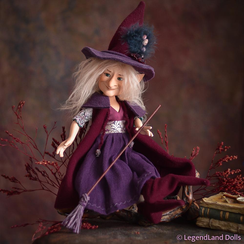 Boszorkány figura: Irma - bölcs boszorkány | LegendLand Dolls
