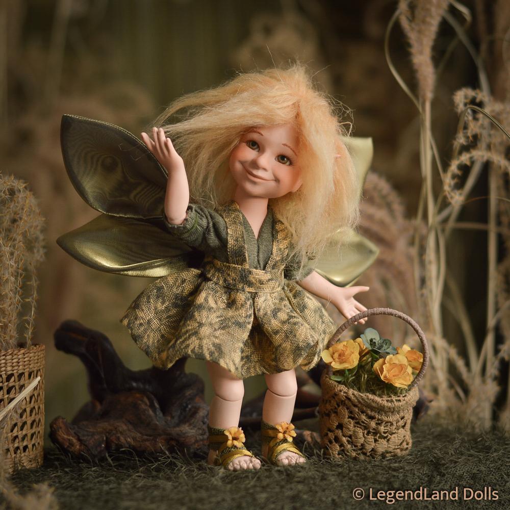 Tündér figura: Primula – kertész tündér | LegendLand Dolls