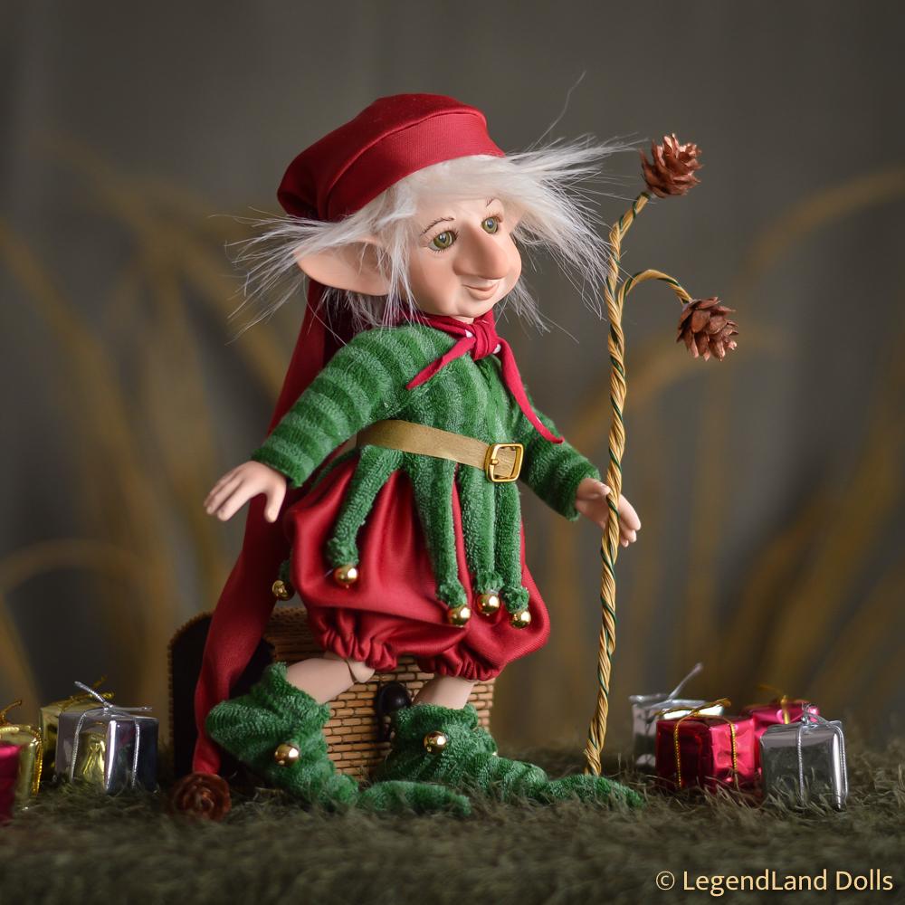 Karácsonyi manó figura: Ismo - rénszarvas oktató | LegendLand Dolls
