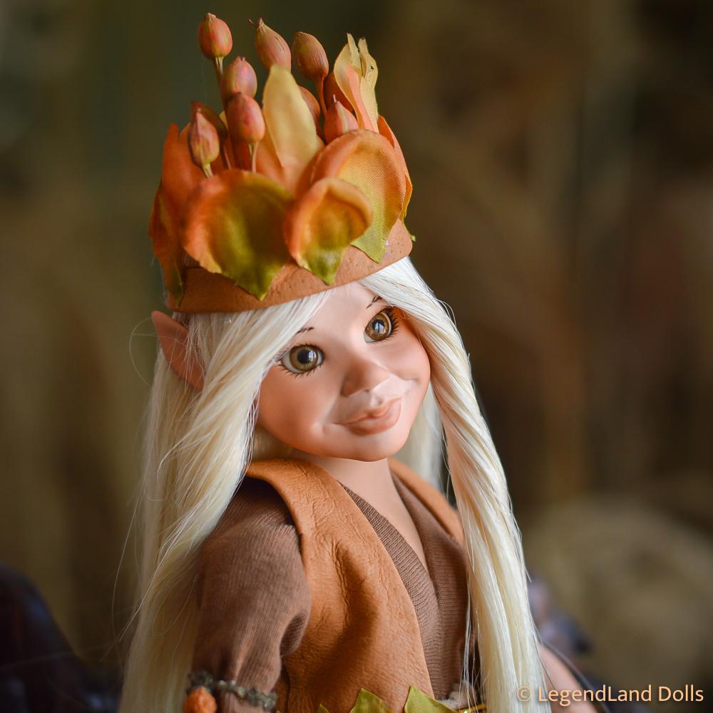 Elf figura: Kachina - harcos elf hercegnő   LegendLand Dolls