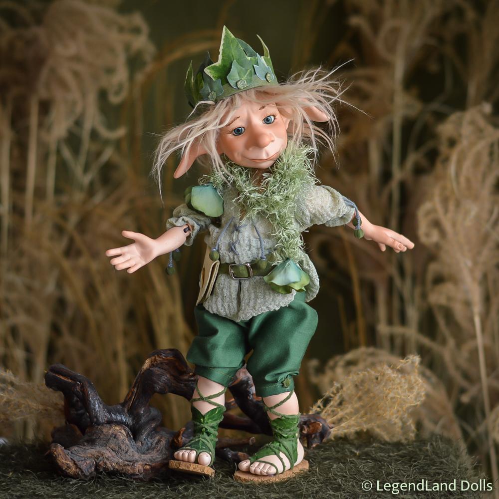Kobold figura: Shikoba - hóbortos kobold király | LegendLand Dolls