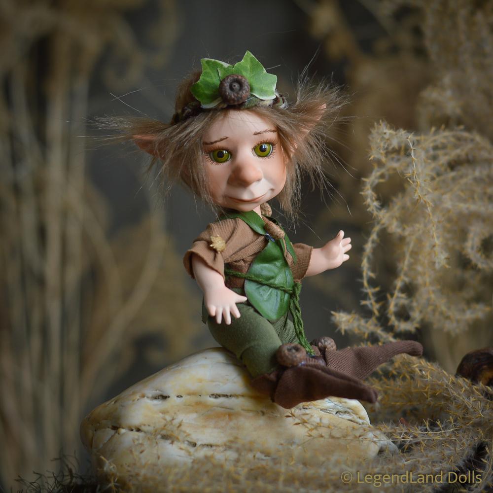 Kobold figura: Vilibald - apró kobold nebuló   LegendLand Dolls