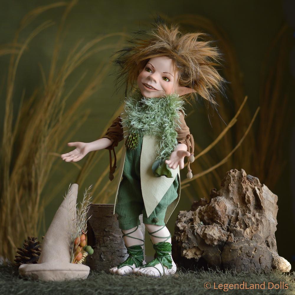 Elf figura: Levente - álmodozó elf   LegendLand Dolls