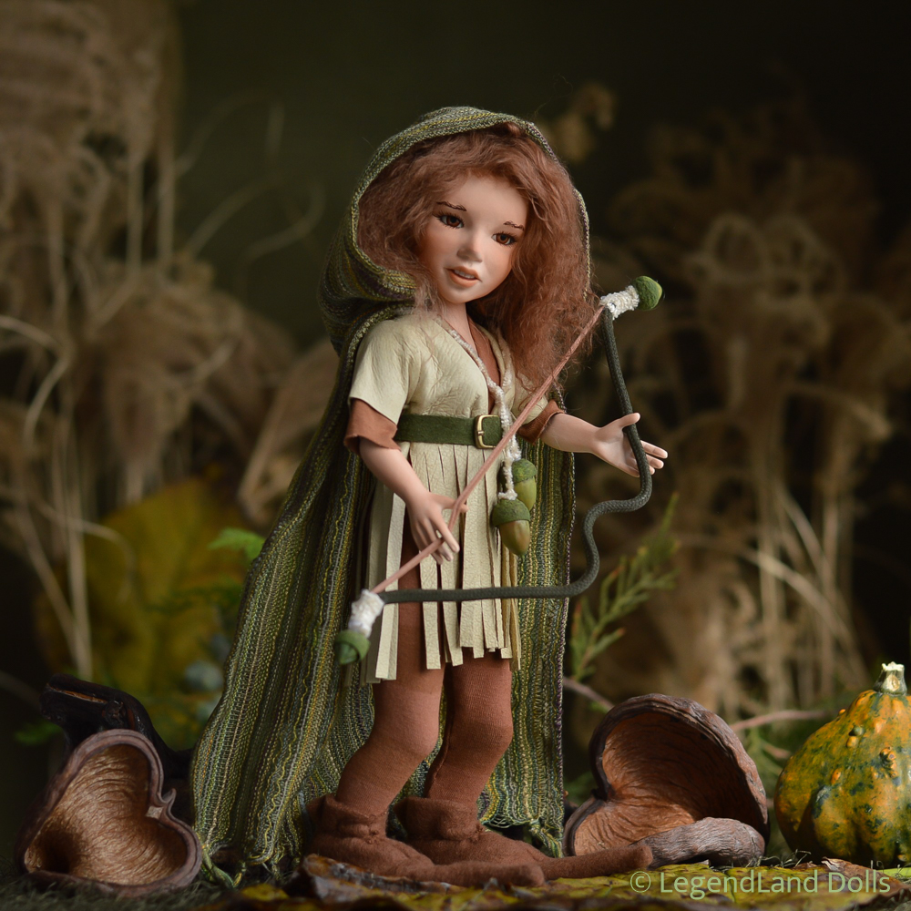 Elf figura: Kalani - erdei harcos elf   LegendLand Dolls